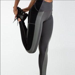 GYMSHARK Prism Colorblock Grey Leggings XS